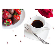 Buy Cutlery Commission Silver-Plated Personalised Coffee Spoon Online at johnlewis.com