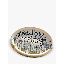 Buy Gallery Thea Personalised Oval Wall Plaque, Medium Online at johnlewis.com