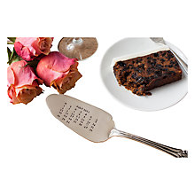 Buy Cutlery Commission Silver-Plated Personalised Date Cake Slice Online at johnlewis.com