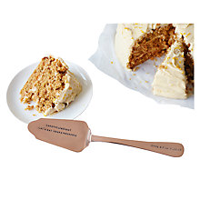 Buy Cutlery Commission Rose Gold Personalised Cake Slice Online at johnlewis.com