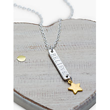Buy Chambers & Beau Personalised Skinny Bar and Star Necklace Online at johnlewis.com