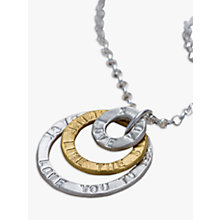 Buy Chambers & Beau Personalised Triple Halo Necklace Online at johnlewis.com