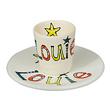 Buy Gallery Thea Personalised Straight Sided Name Egg Cup and Plate Online at johnlewis.com