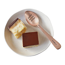 Buy Cutlery Commission Rose Gold Personalised Tea Spoon Online at johnlewis.com