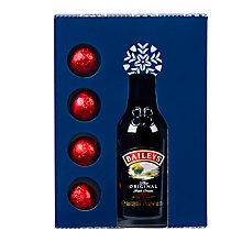 Buy Mini Baileys Irish Cream & 4 Milk Chocolates, 50ml Online at johnlewis.com