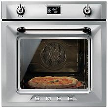 Buy Smeg SFP6925XPZE  Built-In Single Electric Oven, Silver/Stainless Steel Online at johnlewis.com