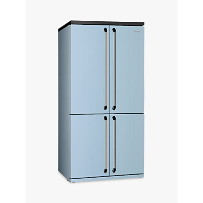 Smeg FQ960PB 4Door American Style Fridge Freezer A Energy Rating 92cm Wide Blue