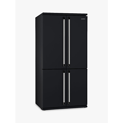 Smeg FQ960N 4Door American Style Fridge Freezer A Energy Rating 92cm Wide Black