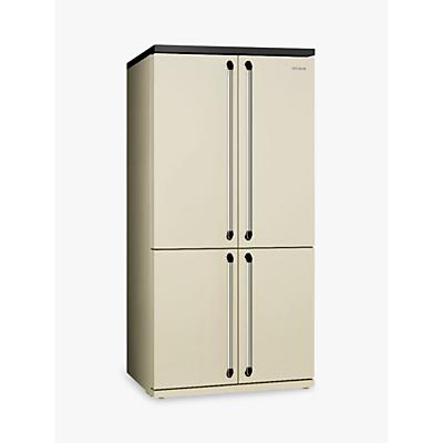Smeg FQ960P 4Door American Style Fridge Freezer A Energy Rating 92.2cm Wide Cream