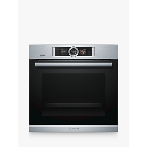 buy bosch hrg6769s6b built in single oven with home connect brushed steel john lewis. Black Bedroom Furniture Sets. Home Design Ideas