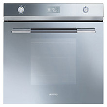 Buy Smeg SFP125SE Built-In Single Electric Oven, Silver / Glass Online at johnlewis.com