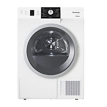 Buy Panasonic NR-P8ER1WGB Heat Pump Condenser Tumble Dryer, 8kg Load, A+++ Energy Rating, White Online at johnlewis.com