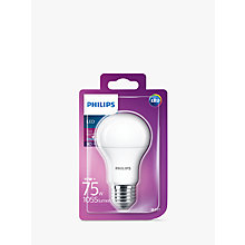 Buy Philips 10W ES LED Frosted Bulb Online at johnlewis.com