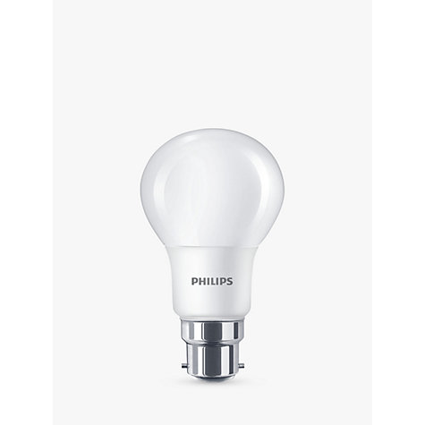 buy philips 7 5w bc led classic cool white light bulb frosted 4000k john lewis. Black Bedroom Furniture Sets. Home Design Ideas