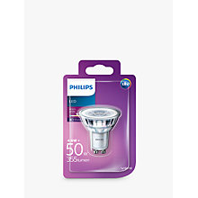 Buy Philips 4.6W GU10 LED Spotlight Bulb Online at johnlewis.com