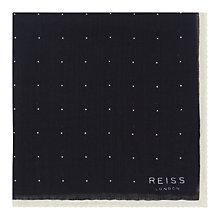 Buy Reiss Cinta Spot Wool Pocket Square, Navy Online at johnlewis.com
