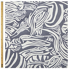 Buy John Lewis Abstract Zebra Print Fabric, Grey Online at johnlewis.com