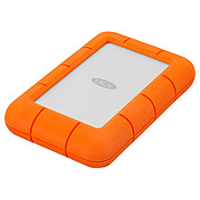 Buy LaCie Rugged Mini Drive, 1TB, Orange Online at johnlewis.com