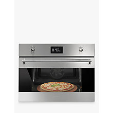 Buy Smeg SFP4390XPZ Built-In Single Oven, Silver/Stainless Steel Online at johnlewis.com