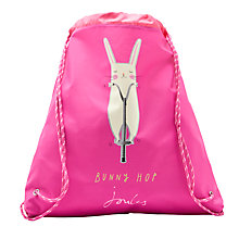 Buy Little Joule Children's Bunny Drawstring Bag, Pink Online at johnlewis.com