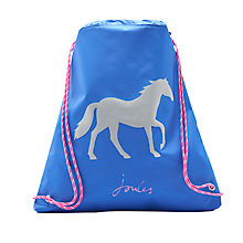Buy Little Joule Children's Horse Drawstring Bag, Blue Online at johnlewis.com