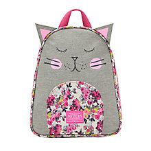 Buy Little Joule Children's Cat Rucksack, Pink Online at johnlewis.com