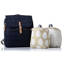 Buy PacaPod Hastings Ink Stripe Changing Bag, Navy Online at johnlewis.com