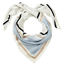 Buy Pure Collection Zaria Square Print Scarf, Navy Online at johnlewis.com