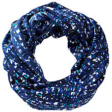 Buy Pure Collection Abrielle Texture Print Snood, Turquoise Online at johnlewis.com