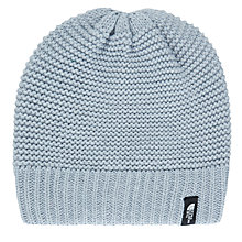 Buy The North Face Purrl Stitch Beanie, One Size, Light Grey Heather Online at johnlewis.com