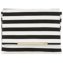 Buy Dune Bennie Clutch Bag, Black/White Online at johnlewis.com