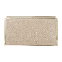 Buy Dune Brixxton Box Clutch Bag, Gold Online at johnlewis.com
