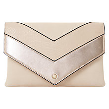 Buy Dune Emmie Envelope Clutch Bag, Blush Online at johnlewis.com