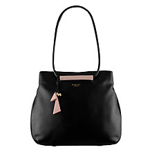 Buy Radley Albemarle Large Leather Multi Shoulder Bag, Black Online at johnlewis.com