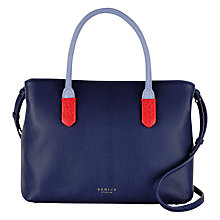 Buy Radley Gainsborough Medium Leather Multi Grab Bag, Navy Online at johnlewis.com