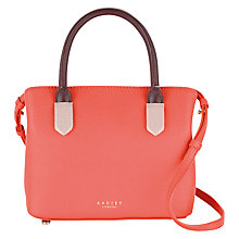 Buy Radley Gainsborough Small Leather Multi Grab Bag, Orange Online at johnlewis.com