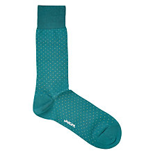 Buy Jaeger Formal Micro Dot Socks, One Size, Mallard Online at johnlewis.com