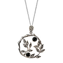 Buy Goldmajor Sterling Silver Marcasite and Agate Pendant, Silver Online at johnlewis.com