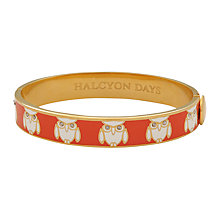 Buy Halcyon Days Owl Enamel Bangle Online at johnlewis.com
