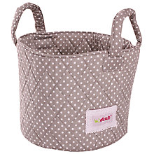Buy Minene Small Dots Storage Basket, Grey Online at johnlewis.com