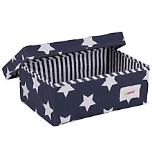 Buy Minene Small Star Storage Box, Navy Online at johnlewis.com