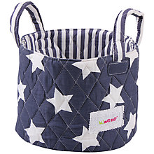Buy Minene Small Star Storage Basket, Navy Online at johnlewis.com