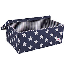 Buy Minene Large Star Storage Box, Navy Online at johnlewis.com