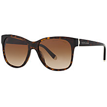 Buy Ralph Lauren RL8115 Square Sunglasses, Tortoise/Brown Gradient Online at johnlewis.com