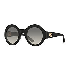 Buy Gucci GG 3788/S Round Sunglasses, Matte Black/Grey Gradient Online at johnlewis.com