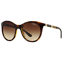 Buy Vogue VO2971S Oval Sunglasses, Tortoise Online at johnlewis.com