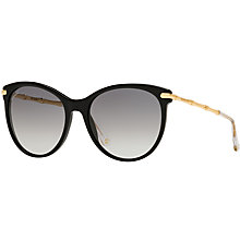 Buy Gucci GG 3771/S Cat's Eye Sunglasses, Black/Grey Gradient Online at johnlewis.com