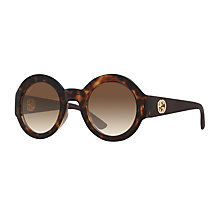 Buy Gucci GG 3788/S Round Sunglasses, Tortoise Online at johnlewis.com