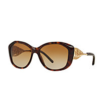 Buy Burberry BE4208 Polarised Gradient Cat's Eye Sunglasses, Tortoise Online at johnlewis.com