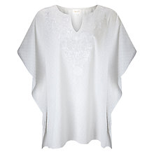 Buy East Embroidered Kaftan Top, White Online at johnlewis.com